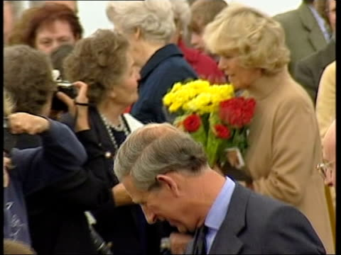 prince charles and camilla attend church service; royal pool scotland: caithness: canisbay: ext lms prince charles, the prince of wales along with... - zoom out 個影片檔及 b 捲影像