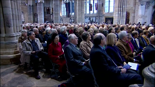 prince charles and camilla attend service of thanksgiving at exeter cathedral england devon exeter exeter cathedral int **music heard sot**... - exeter cathedral stock videos & royalty-free footage