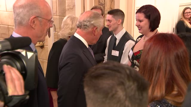 stockvideo's en b-roll-footage met prince charles and camilla attend 'we are most amused and amazed' event at london palladium england london london palladium photography*** prince... - london palladium