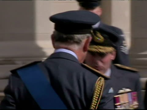 prince charles and camilla duchess of cornwall arrive at raf cranwell for prince william's graduation ceremony - raf cranwell stock videos & royalty-free footage