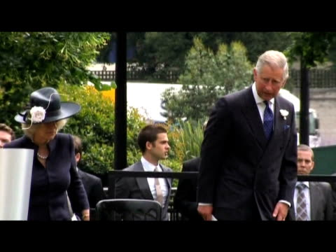prince charles and camilla duchess of cornwall attend memorial ceremony held in honour of 7/7 bombing victims london 7 july 2009 - memorial event stock videos and b-roll footage