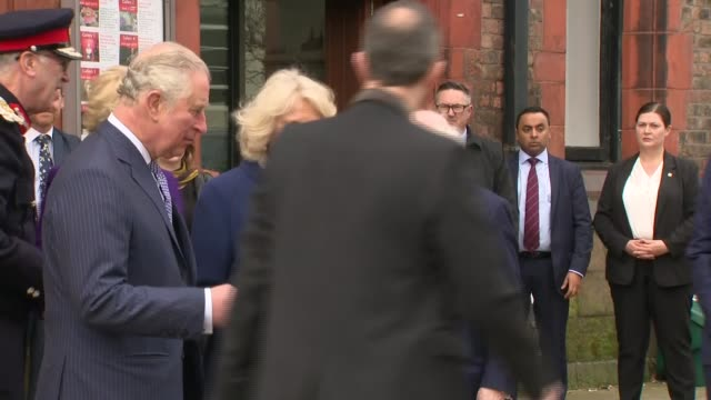 prince charles and camilla duchess of cornwall visit liverpool with the president of ireland england merseyside liverpool university of liverpool... - michael d. higgins stock videos and b-roll footage