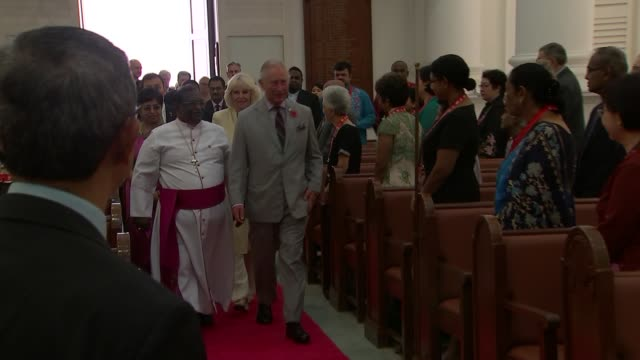 prince charles and camilla duchess of cornwall visit penang malaysia penang george town photography** **music heard intermittently sot** prince... - penang stock videos and b-roll footage