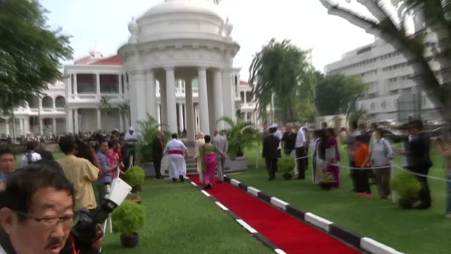 prince charles and camilla duchess of cornwall visit penang malaysia penang george town photography** prince charles prince of wales and camilla... - penang stock videos and b-roll footage