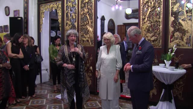 prince charles and camilla duchess of cornwall visit penang malaysia penang photography*** prince charles prince of wales and camilla duchess of... - penang stock videos and b-roll footage