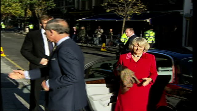 Prince Charles and Camilla opening new wing at Great Ormond Street Hospital **BEWARE London Great Ormond Street Hospital EXT Prince Charles Prince of...