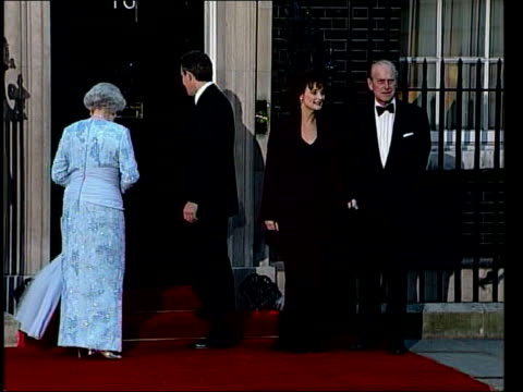 prince charles and camilla parker bowles engagement constitutional implications tx ext queen elizabeth ii tony blair mp cherie blair and prince... - cherie charles stock videos & royalty-free footage