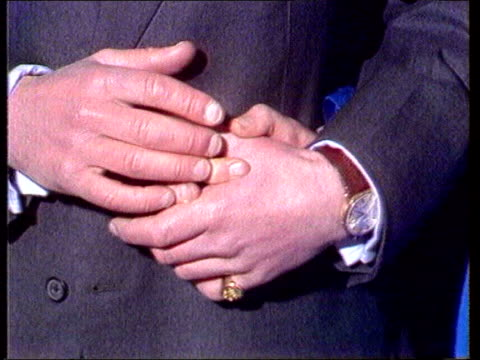 prince charles and camilla parker bowles engagement history tx prince charles and diana's holding hands at announcement of engagement prince charles... - コーンウォール公爵夫人 カミラ点の映像素材/bロール