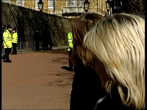 prince charles and camilla parker bowles' wedding camilla departs clarence house england london clarene house ext entrance to clarence house with... - camilla duchess of cornwall stock videos and b-roll footage