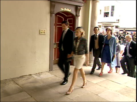 prince charles and camilla parker bowles' wedding wedding party arrive at guildhall england berkshire windsor ext bus departs windsor castle and... - camilla duchess of cornwall stock videos and b-roll footage