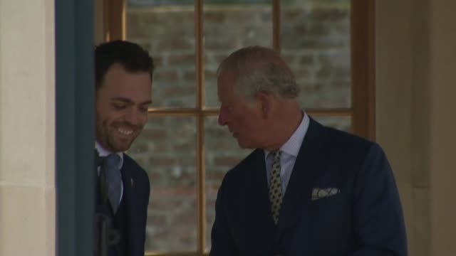 prince charles and camilla tour the gardens during visit to refurbished hillsborough castle northern ireland county down hillsborough castle ext... - pagoda stock videos & royalty-free footage