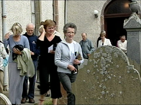 prince charles and camilla unveil memorial plaque for queen mother at canisbay church various of wellwishers gathered outside church some holding... - memorial plaque stock videos and b-roll footage
