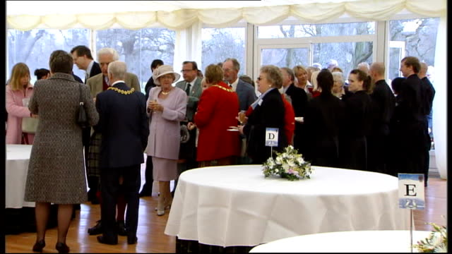 prince charles and camilla unveil queen mother memorial gates int prince charles and camilla talking to people inside reception / charles and camilla... - book signing stock videos & royalty-free footage