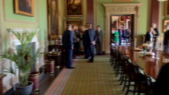Prince Charles and Camilla visit Hillsborough Castle NORTHERN IRELAND County Down Hillsborough Castle INT Prince Charles Prince of Wales and Camilla...