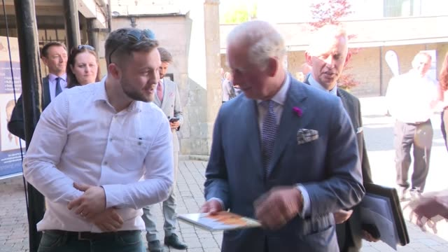 prince charles and camilla visit lisnaskea northern ireland county fermanagh lisnaskea photography** press photographers / prince charles prince of... - prince stock videos and b-roll footage