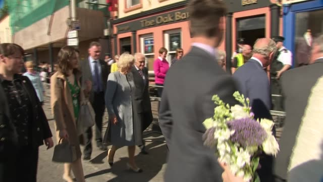 prince charles and camilla visit lisnaskea northern ireland county fermanagh lisnaskea ext prince charles prince of wales and camilla duchess of... - prince stock videos and b-roll footage