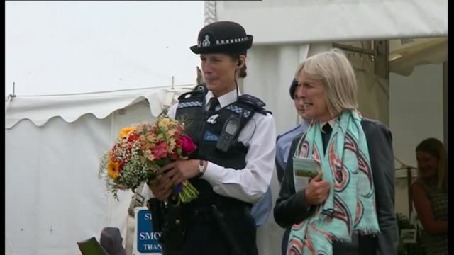 Prince Charles and Camilla visit Sandringham Flower Show Part One Various of Prince Charles and Camilla Duchess of Cornwall along at flower show...