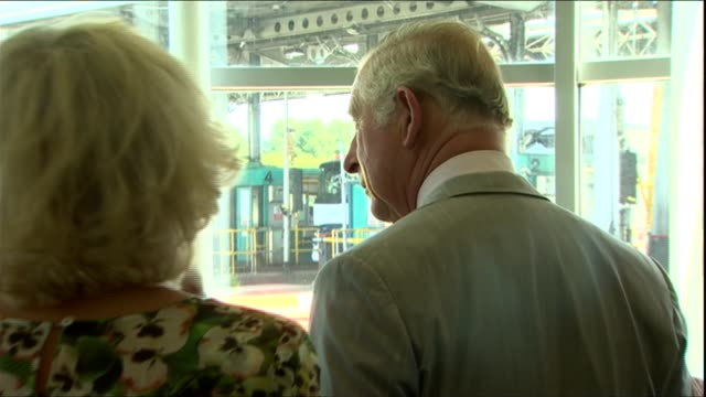 prince charles and camilla visit second severn crossing / prince of wales bridge uk prince charles prince of wales and camilla duchess of cambridge... - charles bridge stock-videos und b-roll-filmmaterial