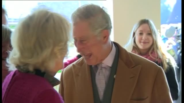 Prince Charles and Camilla visit Stamford Bridge in Yorkshire INT **Audio of unidentified reporter speaking to people in background SOT** Charles and...