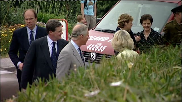 prince charles and camilla visit to the the isles of scilly; england: cornwall: isles of scilly: ext * * beware intermittent flash photography * *... - isles of scilly stock videos & royalty-free footage