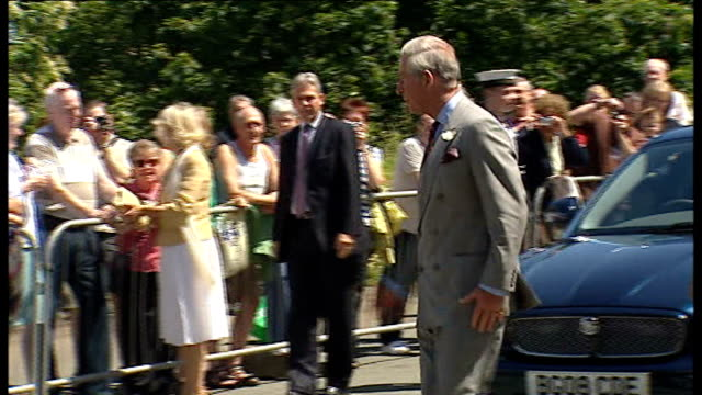 prince charles and camilla visit wales wales pembrokeshire st davids cathedral ext * * sound of cathedral bells heard during following shots sot * *... - pembrokeshire stock videos and b-roll footage