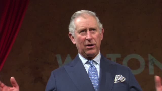 prince charles and camilla visit wilton's music hall; prince charles speech sot - rather a sucker for these sorts of projects / great treat to have... - barry cryer stock videos & royalty-free footage