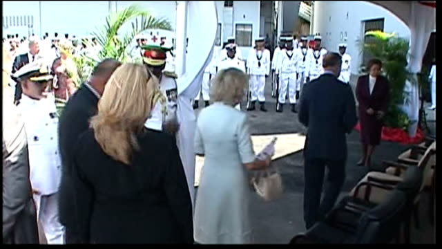 Prince Charles and Camilla watch dancers and visit bird sanctuary REPUBLIC OF TRINIDAD AND TOBAGO Port of Spain EXT Royal yacht Leander dockside...