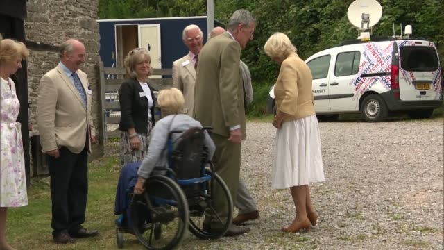 prince charles and duchess of cornwall attend exmoor national park picnic; england: devon: exmoor national park: ext prince charles, prince of wales,... - exmoor national park stock videos & royalty-free footage