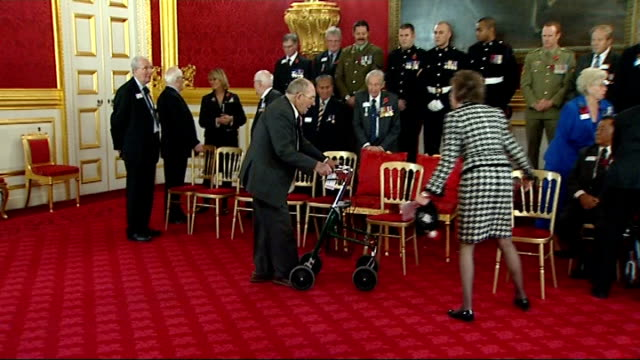 prince charles and duchess of cornwall host reception for victoria george cross recipients england london st james's palace photography*** gvs of... - the victoria cross stock-videos und b-roll-filmmaterial