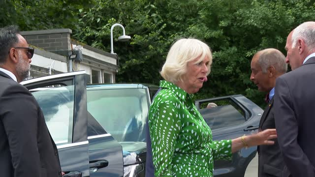 prince charles and duchess of cornwall thank royal parks staff during hyde park visit; england: london: hyde park: ext various of prince charles,... - loyd grossman点の映像素材/bロール