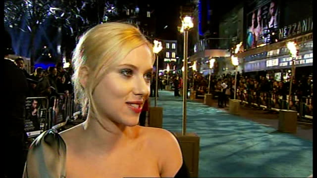 prince charles and duchess of cornwall to attend film premiere for 'the other boleyn girl' england london leicester square scarlett johansson live... - sleeveless dress stock videos and b-roll footage