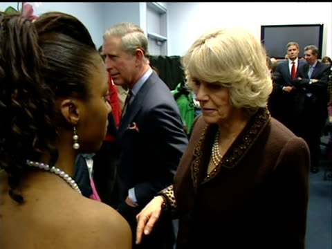 Prince Charles and Duchess of Cornwall visit to Harlem Charter School New York Prince Charles Camilla and other spectators greeting young actors...