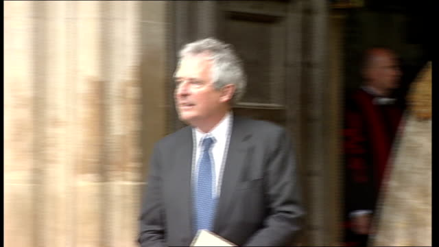 prince charles and gordon brown at westminster abbey service for 60th anniversary of nhs david cameron and wife samantha cameron leaving service/... - alan johnson stock videos & royalty-free footage