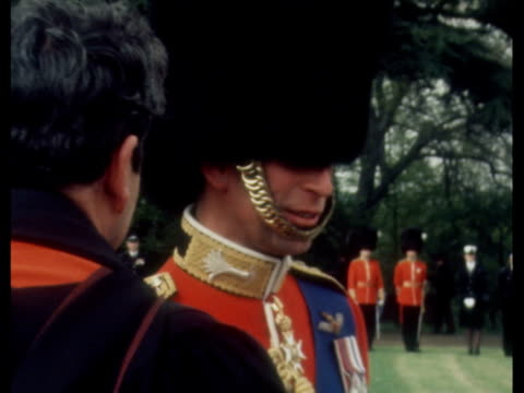 prince charles and lady diana arrive at heathrow england berkshire windsor ms queen elizabeth ii presents colours to welsh regiment prince charles... - colours stock videos & royalty-free footage