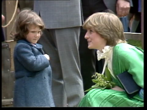 prince charles and lady diana spencer open lord mountabatten exhibition; 5.35 remains england: hampshire: broadlands: ext prince charles, prince of... - britisches königshaus stock-videos und b-roll-filmmaterial