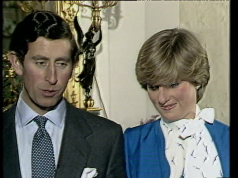 Prince Charles and Lady Diana Spencer talk of first time they met and first impressions of one another following announcement of their engagement...