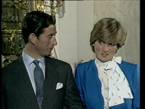 Prince Charles and Lady Diana Spencer talk of things they have in common following announcement of their engagement London 24 Feb 81