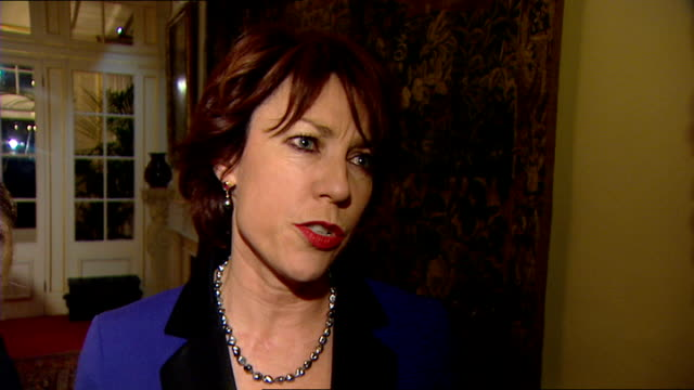 prince charles and notable australians at reception kathy lette interview sot on australian bush fires - kathy lette stock videos & royalty-free footage