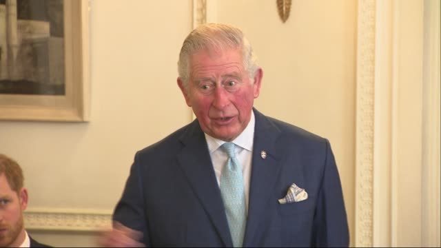 prince charles and prince harry host summit on youth crime; england: london: clarence house: int prince charles, prince of wales speaking at youth... - prince charles prince of wales stock videos & royalty-free footage