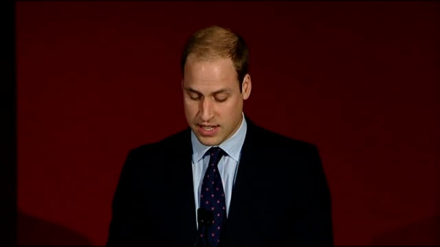 prince charles and prince william host conference on poaching prince william speech sot praises the work of the duke of edinburgh and prince charles... - owen paterson stock videos and b-roll footage