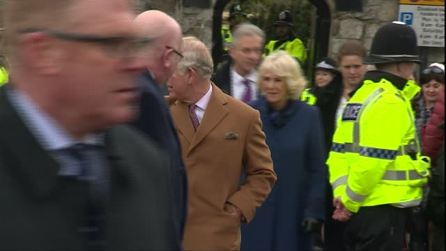 Prince Charles and the Duchess of Cornwall visit Ely market ENGLAND Cambridgeshire Ely EXT Prince Charles Prince of Wales and Camilla Duchess of...