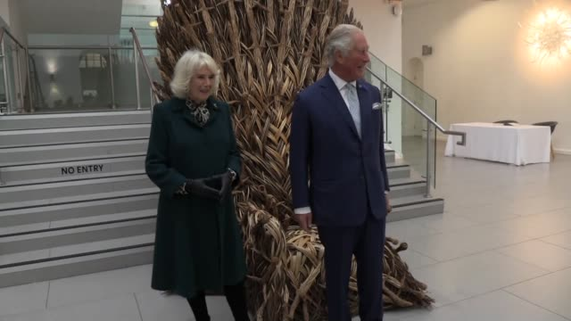 prince charles and the duchess of cornwall visit the ulster museum in belfast during a one day trip to northern ireland. they met a number of young... - prince of wales stock videos & royalty-free footage