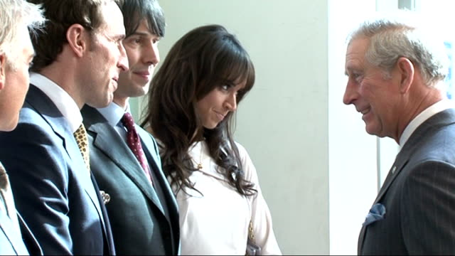 prince charles arrival at prince's trust celebrate success awards prince charles meeting prince's trust ambassadors naomie harris gareth southgate... - phillip schofield stock videos & royalty-free footage