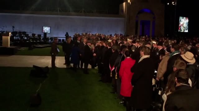 Prince Charles arrives to take part in an Anzac Day dawn service at the Australian National Memorial near Amiens to mark the centenary of the Battle...