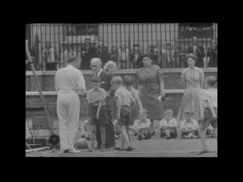 prince charles at school sports day; england: london: knightsbridge: hill house school: ext queen elizabeth ii, prince philip, duke of edinburgh and... - rope stock videos & royalty-free footage