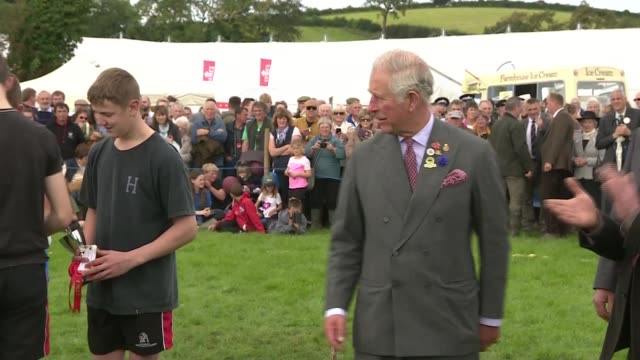 Prince Charles at Westmorland County Show ENGLAND Cumbria THROUGHOUT*** Prince Charles Prince of Wales arriving and handing out prizes of cup and...