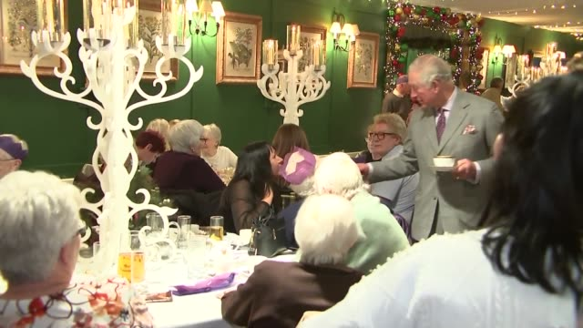 prince charles attends christmas tea dance in dumfries house scotland ayrshire dumfries house int various of prince charles prince of wales meeting... - scotland stock videos & royalty-free footage