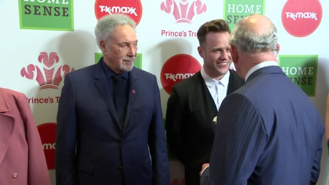stockvideo's en b-roll-footage met prince charles attends prince's trust awards prince charles along meeting ant and dec and chatting / greeting cheryl tweedy / charles meeting olly... - ant mcpartlin