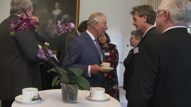 prince charles attends the plant health and biodiversity conference at the royal botanic gardens in kew; england: london: kew gardens: cambridge... - 英国王立園芸協会点の映像素材/bロール