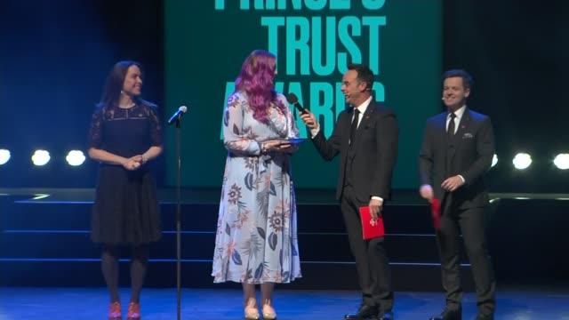 vídeos de stock e filmes b-roll de prince charles attends the princes trust awards at the london palladium; england: london: the london palladium: int princes trust awards show - part... - ant mcpartlin